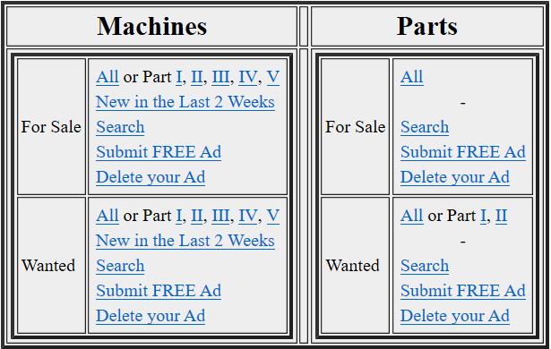 Buying a pinball machine on Mr.Pinball classified ads